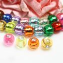 Beads, Cute beads, Acrylic, Assorted colours, Disc shape, 8mm x 8mm x 6mm, 6g, 40 Beads, (SLZ0601)